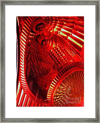 Brake Light 42 Framed Print by Sarah Loft