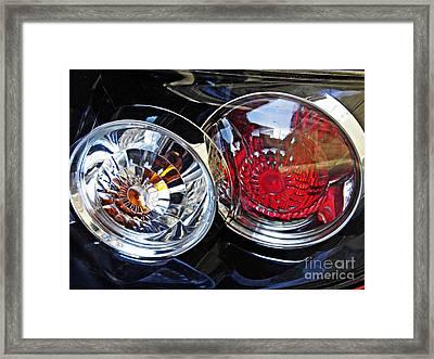 Brake Light 55 Framed Print by Sarah Loft