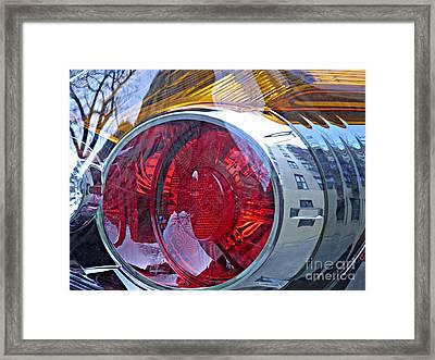 Brake Light 59 Framed Print by Sarah Loft