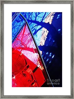 Brake Light 60 Framed Print by Sarah Loft