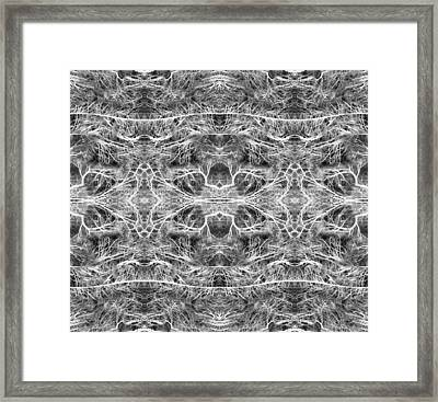 Branches Pattern Framed Print by Florin Birjoveanu