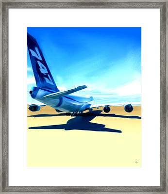 Brand New - Boeing 747 Framed Print by Marcello Cicchini