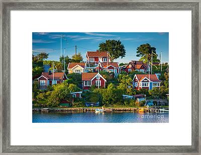 Brandaholm Cottages Framed Print by Inge Johnsson