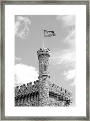 Brandeis University Usen Castle Framed Print by University Icons