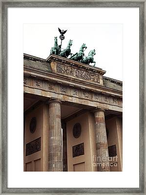 Brandenburg Gate Framed Print by John Rizzuto