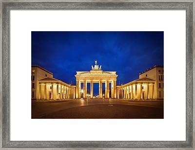 Brandenburg Gate Framed Print by Melanie Viola