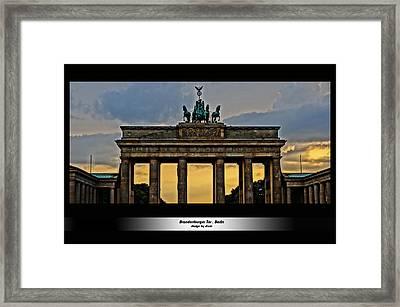 Brandenburger Tor Berlin Hdr Framed Print by Alexander Drum
