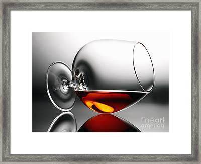 Brandy Snifter Framed Print by Tony Cordoza