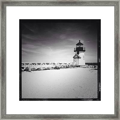 Brant Point Lighthouse Framed Print by Natasha Marco