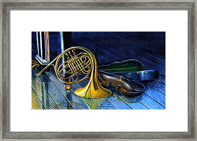 Brass And Strings Framed Print by Hanne Lore Koehler