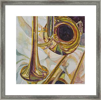 Brass At Rest Framed Print by Jenny Armitage