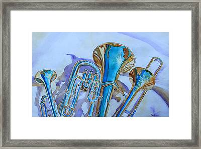 Brass Candy Trio Framed Print by Jenny Armitage