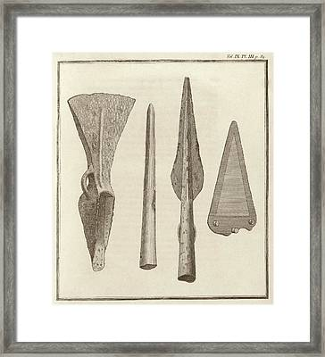 Brass Weapons From Ireland Framed Print by Middle Temple Library