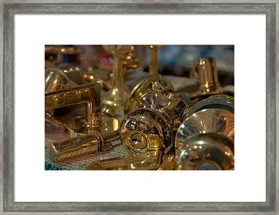 Brassy Framed Print by Paulette B Wright
