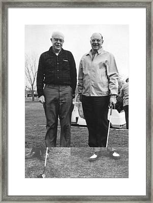 Brattain And Bardeen, Us Physicists Framed Print by Science Photo Library