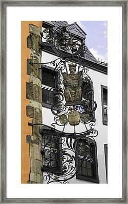 Brauerei Zum Pfaffen Pub Sign Cologne Germany Framed Print by Teresa Mucha