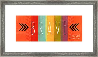 Brave Framed Print by Linda Woods