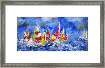 Braving The Heavy Winds Framed Print by Walter Fahmy