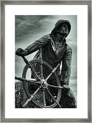 Braving The Storm Framed Print by Stephen Stookey