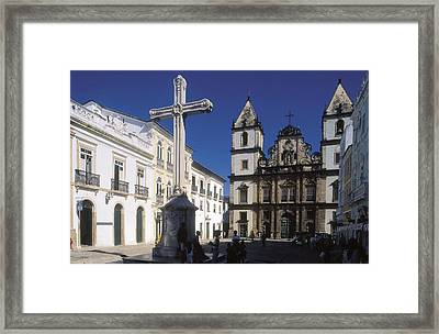 Brazil. Salvador. Church Of Sao Framed Print by Everett