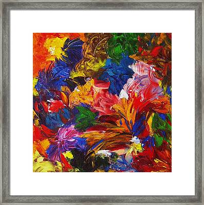 Brazilian Carnival Framed Print by Monique Wegmueller