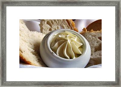 Bread And Butter Framed Print by Jennifer Wheatley Wolf