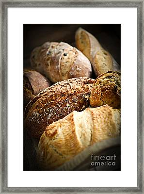 Bread Loaves Framed Print by Elena Elisseeva
