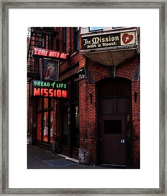 Bread Of Life Framed Print by Benjamin Yeager