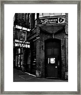 Bread Of Life Black And White Framed Print by Benjamin Yeager