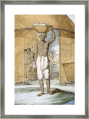 Breadmaker, From The Hindus, Or Framed Print by Franz Balthazar Solvyns