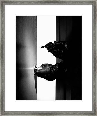 Break-in Framed Print by Murray Bloom