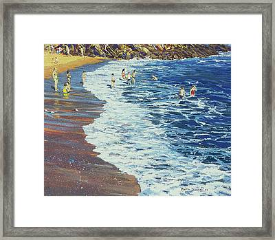 Breakers Framed Print by Martin Decent
