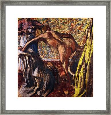 Breakfast After The Bath Le Petit Dejeuner Apres Le Bain Framed Print by Edgar Degas