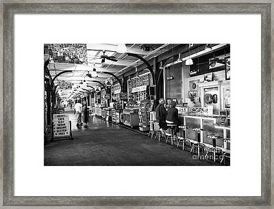 Breakfast At The French Market Mono Framed Print by John Rizzuto
