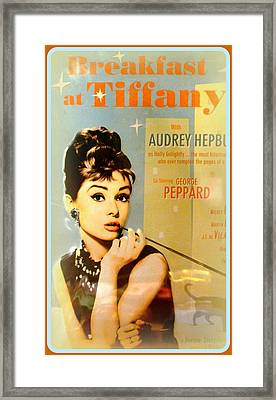 Breakfast At Tiffany Framed Print by The Creative Minds Art and Photography