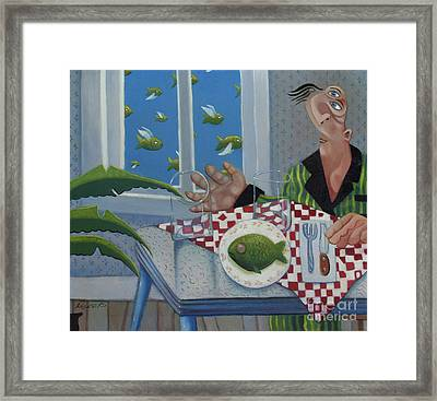 Breakfast In Barbados 1989 Framed Print by Larry Preston