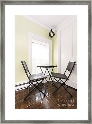 Breakfast Nook In Rustic House Framed Print by Elena Elisseeva