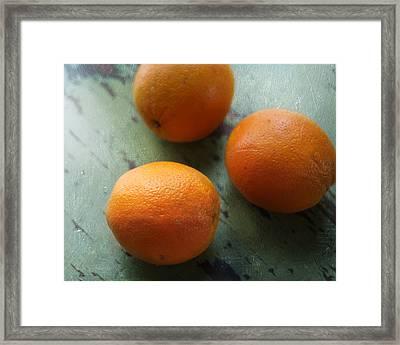 Breakfast Oranges II Framed Print by Amy Tyler