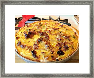 Breakfast Quiche Framed Print by Kay Novy