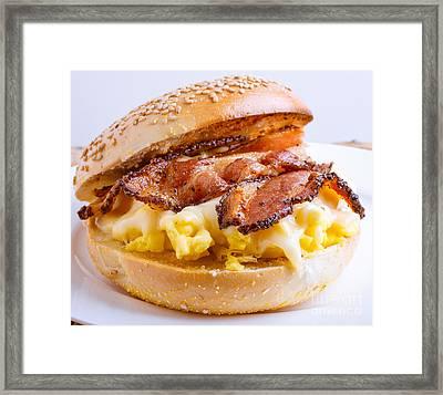 Breakfast Sandwich Framed Print by Edward Fielding