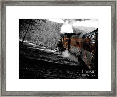 Breaking The Time Barrier  Framed Print by Steven  Digman