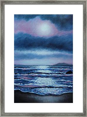 Breaking Waves Coumeenole Beach  Framed Print by John  Nolan