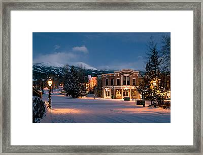 Breckenridge Early Morning Framed Print by Michael J Bauer