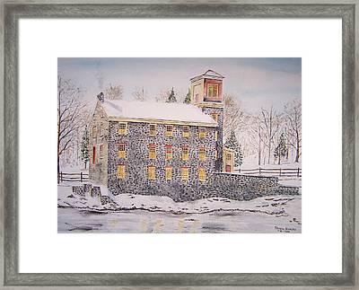 Brecks Mill Framed Print by Peter Kundra