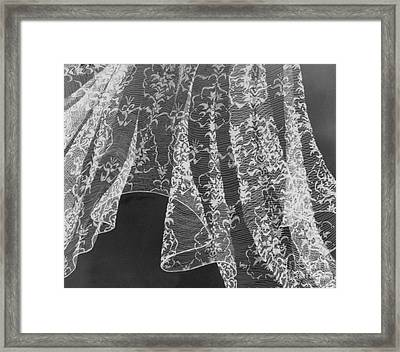 Breeze Of Lace Framed Print by Lucy Stamatinos