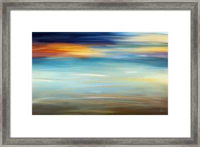 Breeze-seascapes Abstract Art Framed Print by Lourry Legarde