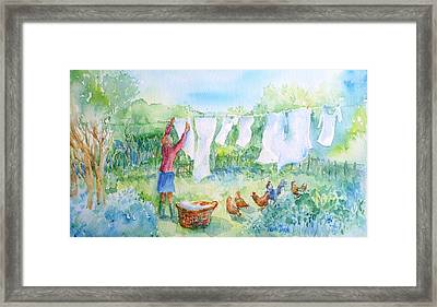 Breezy Day  -great Drying Out Framed Print by Trudi Doyle
