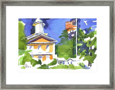 Breezy Morning At The Courthouse Framed Print by Kip DeVore