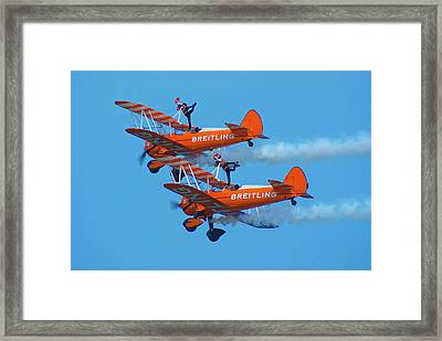 Breiting Wingwalkers Framed Print by Mark Williamson