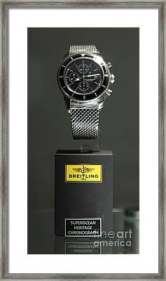 Breitling Watch - 5d20664 Framed Print by Wingsdomain Art and Photography